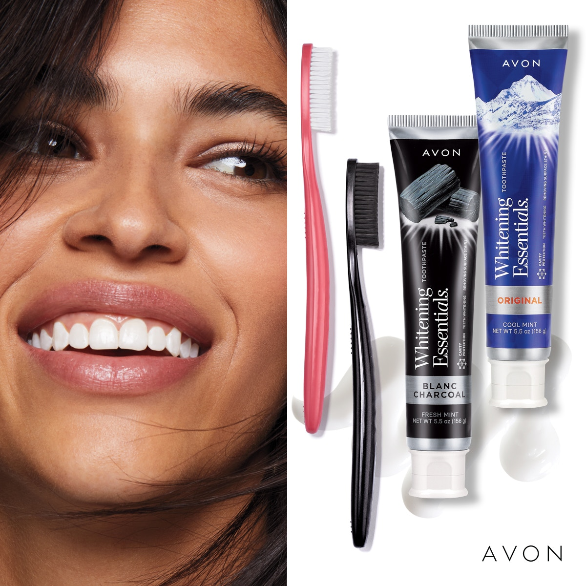 Our #uniquely-shaped brush is designed for maximum coverage over teeth. A #specially-designed pattern sweep between your teeth to keep them #healthy & attack plaque. #Avon-Whitening-Essentials-Toothbrush_Soft_Original  #innovation #avonrep