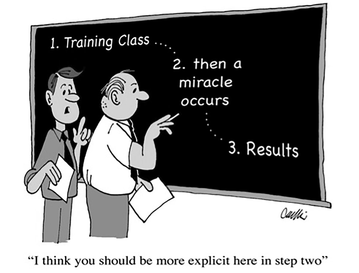 The little-known critical elements of any training attempt. Do this to avoid losing thousands in wasted training effort.  https://lnkd.in/eEbUAPu  #buildinggiants #training #hr #workforcetransformation #workforcetraining #workforcedevelopment #workforceofthefuture #buildingleaderspic.twitter.com/lZSutjxoTg