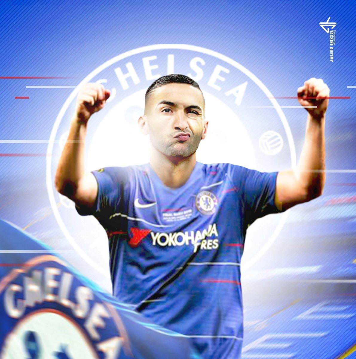 Hakim Ziyech avec le nouveau maillot de club @ChelseaFC #footballgame #footballseason #footballgames #footballplayer  #catch #quarterback #nfl #superbowl #kickoff #run @433 @Sporf #Chelsea #football  #hakimziyech #dimamaghreb #endm  ___________ ART WORK BY @yassineguetmypic.twitter.com/XUEVcN2uWi