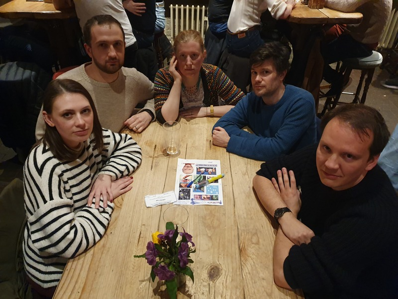 This week's winners were 'Brynspiration!!' at our weekly #PubQuiz @thekingsarmsse1! #Waterloo http://question.one/Yqt5agpic.twitter.com/cmch4vYHa8