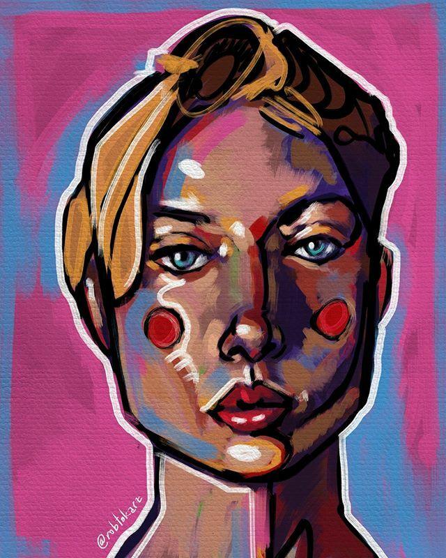Fast digital portrait work with super sat colors. . . . . . #artcollector #travel #redcheeks #drawing #digitalart #contemporaryart #artcollectorsofig #digitalpaintingportrait #portraitpainting #illustration #digitalsketch #sketchbookart #portrait #portra… https://ift.tt/2Hw2na1pic.twitter.com/5U8sTeNFrr