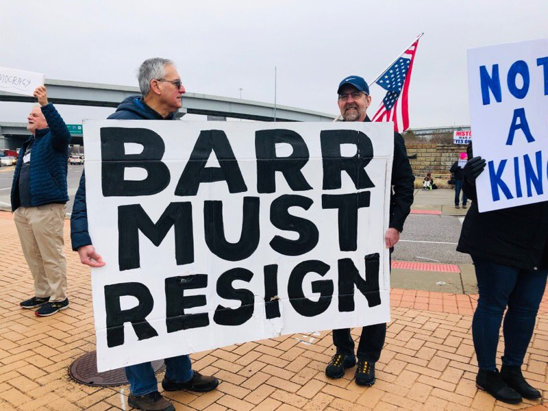 @olgaNYC1211 We were out in force in St. Louis today! #NotOurPresidentsDay #DisbarBarrNow #BarrResign