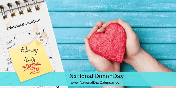 Happy #NationalDonorDay to everyone, hope everyone have a great day and 4 day weekend and President's Day.