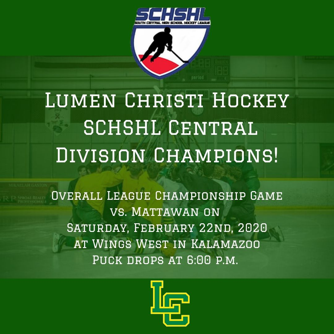 SCHSHL Central Division Champions!  No rest for the weary, as the Titans will have a rematch with South Division Champion Mattawan this Saturday, February 22nd for the overall league championship! Go Titans!<br>http://pic.twitter.com/B52mtSV3Wu