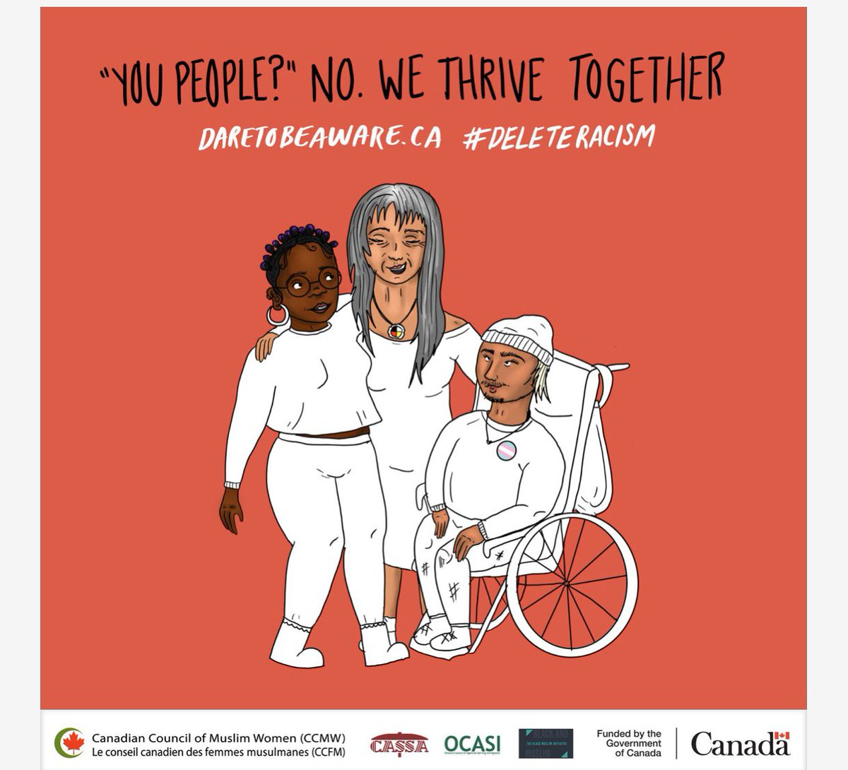 With @CCMWCanada #daretobeaware #antiracism #socialmarketing campaign anyone can be an #agentofchange champion by sharing #CCMW educative resources online using #deleteracism. This is a useful hug to #empower the  #targetaudience towards #behaviourchange. #unlearnracism #SocMarBUpic.twitter.com/Vgfr425Pq1