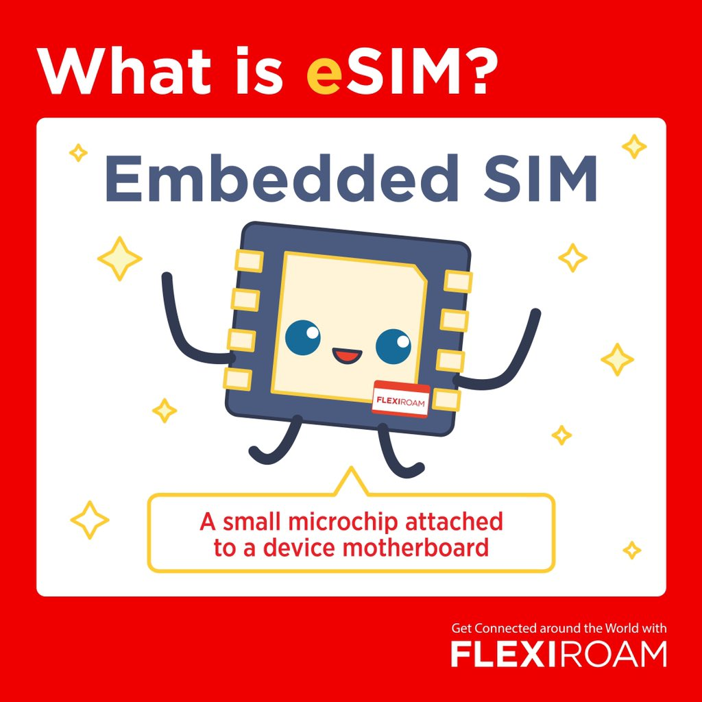 Happy Tuesday Flexiroamers!✈️  Anyone here is still a bit confused about eSIM? Fret not!   We are introducing you to..... *drum rolls*  eSIMie!  FLEXIROAM's friendly eSIM that will help you understand about eSIM!  #FLEXIROAMeSIMie https://t.co/vFcpUHtNj8