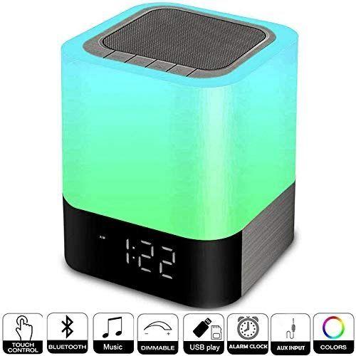 Alarm Clocks for Bedrooms, Hetyre Wireless Bluetooth Speaker with Night Light Bedside Lamp https://buff.ly/31XyngN #electronics #Alarmpic.twitter.com/gerdxCnKHU