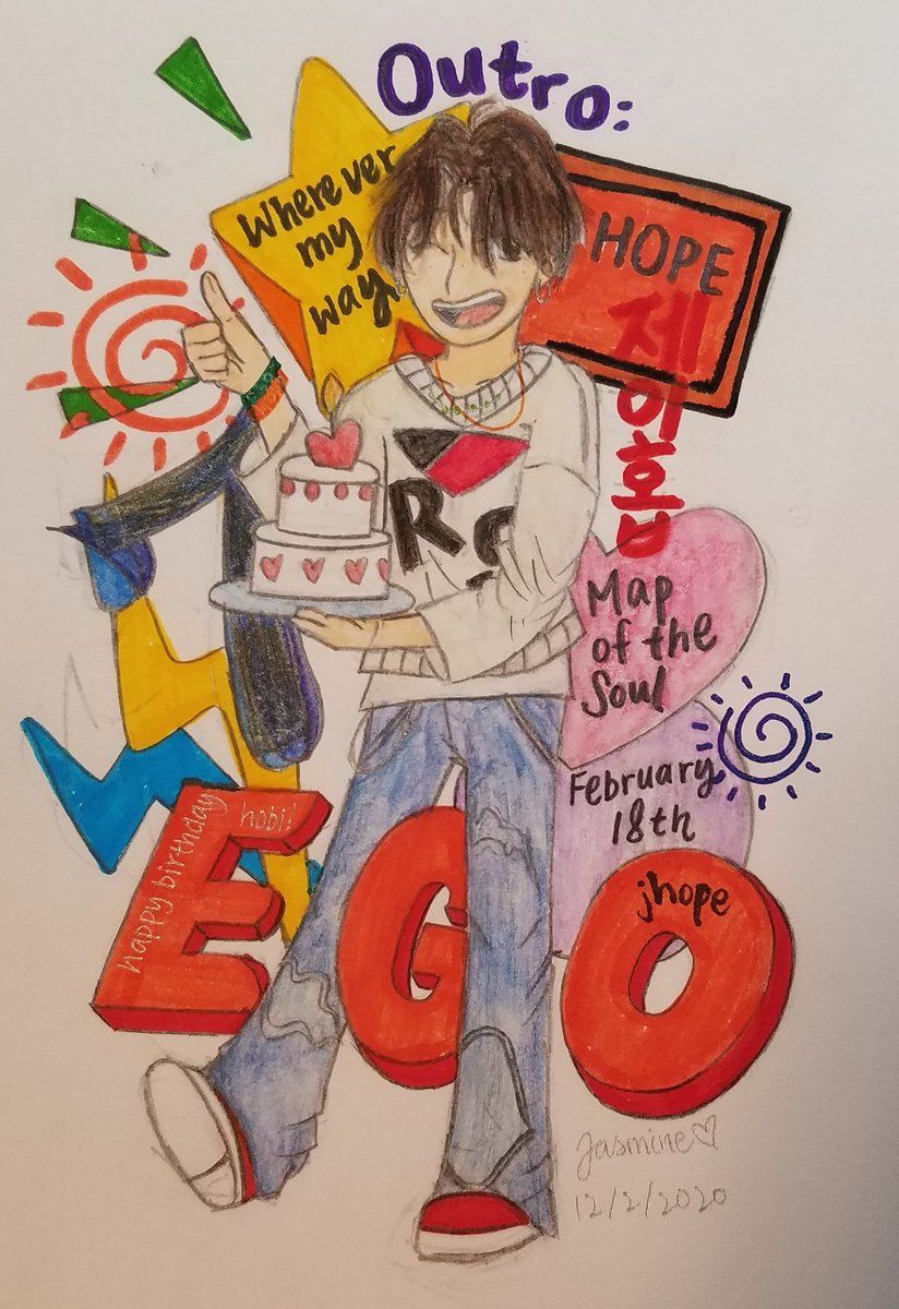 """That way, way, way Wherever my way Only Ego Ego Ego Just trust myself"" ~Outro: Ego, J-Hope  Happy birthday, Hobi! May your life be filled with lots and lots and lots of happiness and HOPE!! #BTS #ARMY #HOBIUARY #outroego #jhope #junghoseok #방탄소년단 #제이홉 #정호석 #이고 #아미"
