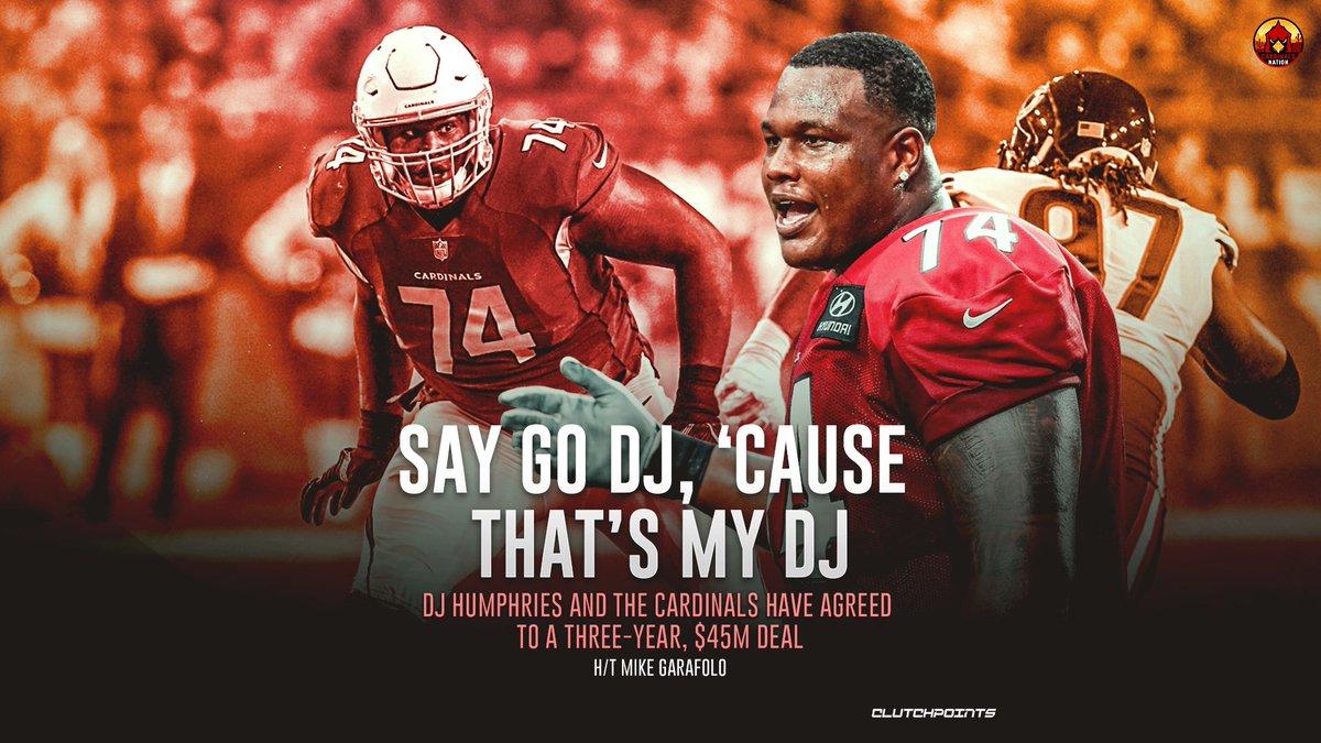 Say go DJ, 'cause DJ got PAID 🤑 #ArizonaCardinals #DJHumphries #NFL