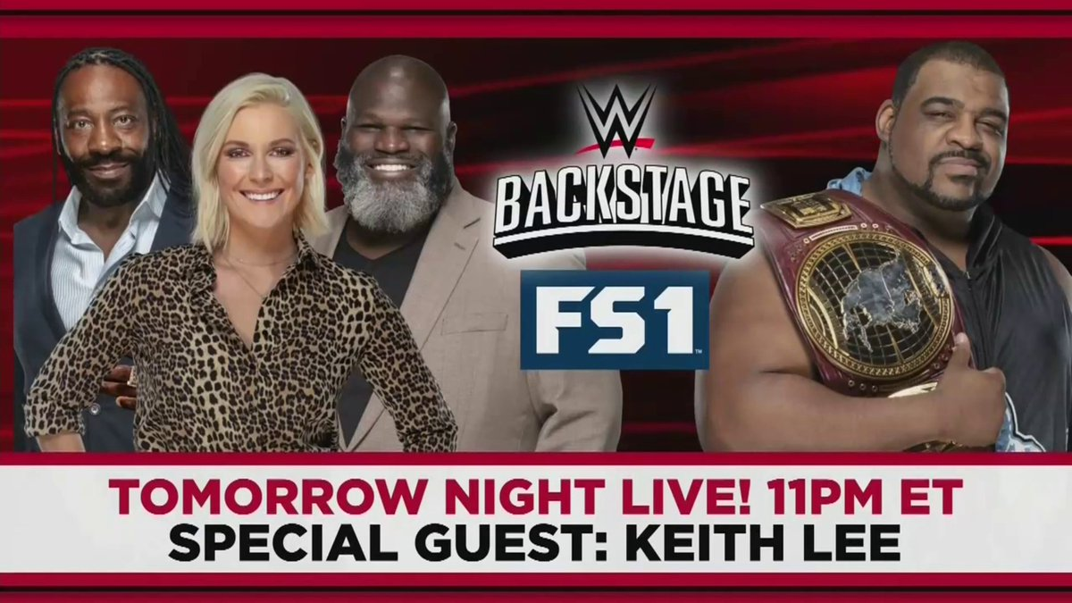 Tomorrow night will be LIMITLESS as @WWENXT North American Champion @RealKeithLee joins #WWEBackstage, at 11e/10c, on @FS1.