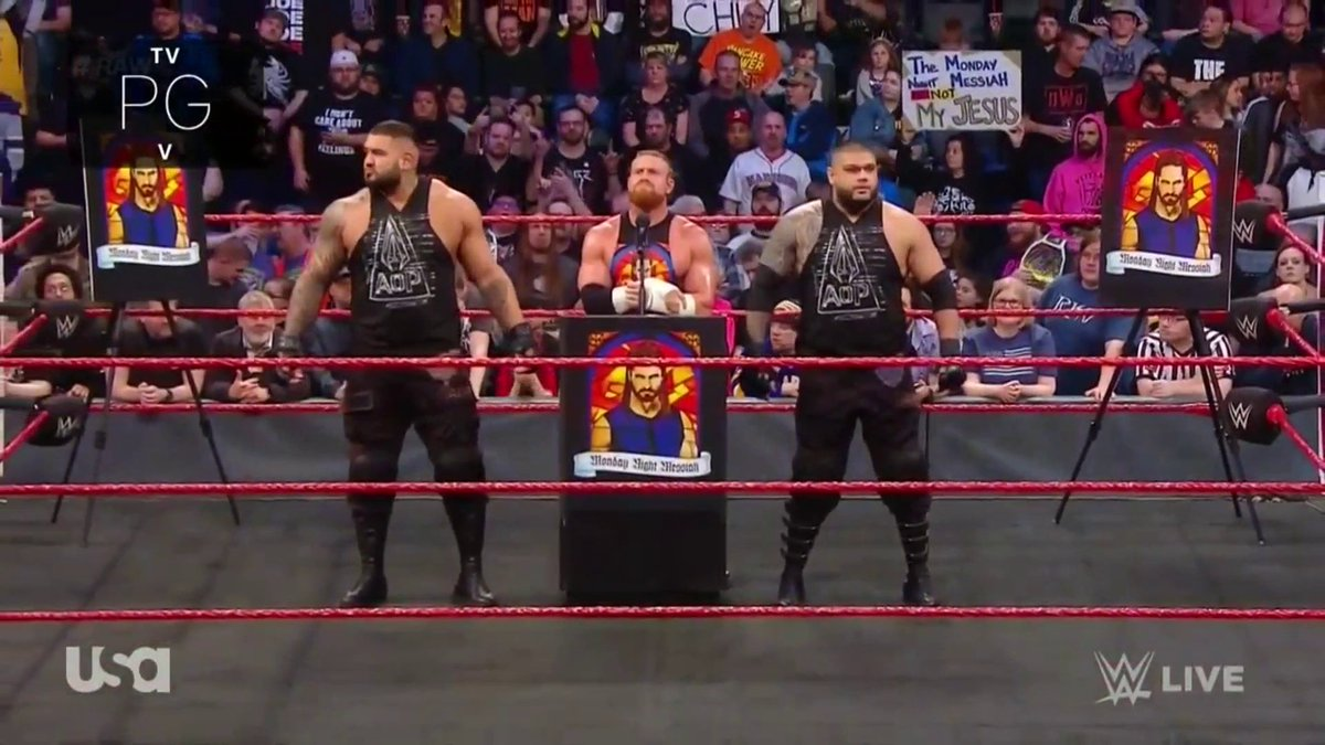 Nah, this won't be controversial at all. #RAW
