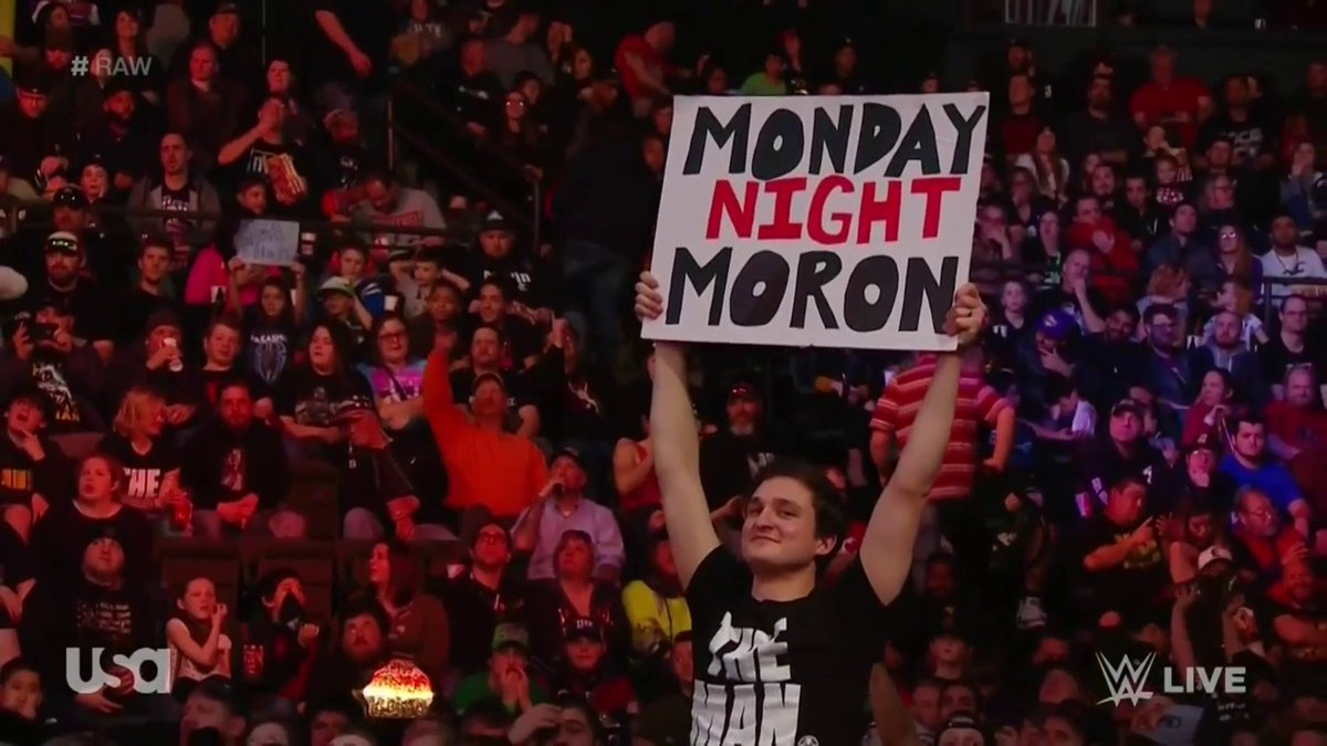 Sign of the night. #RAW
