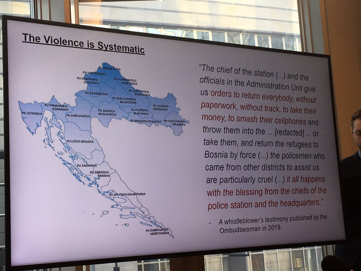 Showing systematic violence and pressure being put by Croatian authorities on any actor reporting push backs whether police officer, medical staff, NGOs or volunteers pic.twitter.com/Ccj0X9AZl6