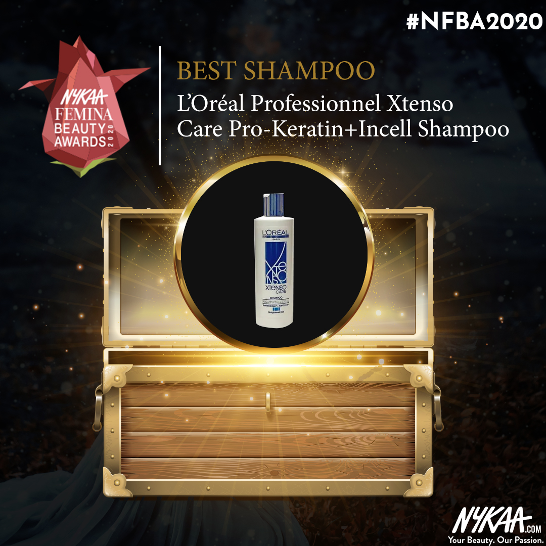 Feeling all sorts of joy with @LorealHairID for winning the best #shampoo at #NFBA2020 #NFBA2020 #NykaaFeminaBeautyAwards #Nykaa #FeminaIndia @MyNykaa @FeminaIndia pic.twitter.com/qhN6ToicOo
