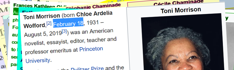 Got to mention the amazing Toni Morrison who was #bornonthisday. What an icon for any day and esp. for #BlackHistoryMonth. She's #OnOurBanner as #WomanoftheDay. #NobelPrize winner https://en.wikipedia.org/wiki/Toni_Morrison…pic.twitter.com/m5yjflyRQg