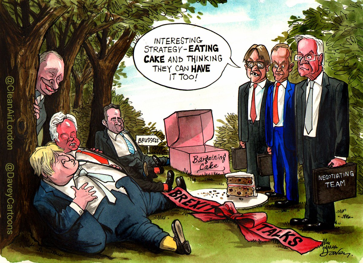 Thread 2/... What amusing is that UK says EU doesn't get the point Brexit when the truth is that @BorisJohnson wants its Cake and Eat (as always)! EU should just say 'No' cc @eucopresident @vonderleyen @EmmanuelMacron @guyverhofstadt @LeoVaradkar
