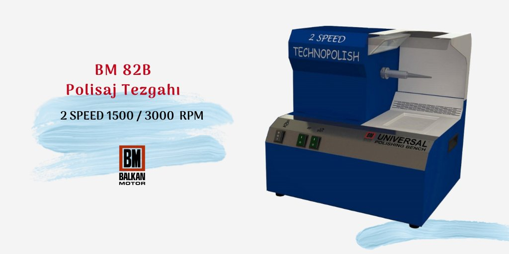 Balkan Motor BM 82B Polisaj Tezgahı. BM 82B  Polishing Bench. O,55 kW / 230 V, 50 Hz / 1500-3000 Rpm / Vacuum 750m3/h Tüm detaylar için/ Click here for more informationhttp://www.balkanmotor.com #manufacturing #pharmaceutical #jobs #clerical #transportationpic.twitter.com/9Fq4jKUeXN