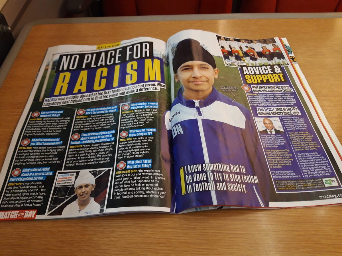test Twitter Media - Young Balraj Singh from Leeds featured in this week's Match Of The Day (@MOTDmag) magazine... Please read and share - @DrJasjitSingh @FootballAssoc @kickitout @mhclg @DCMS @AppgBritSikhs #KickOutRacism #StopSikhHate https://t.co/hXCKKNSjdT