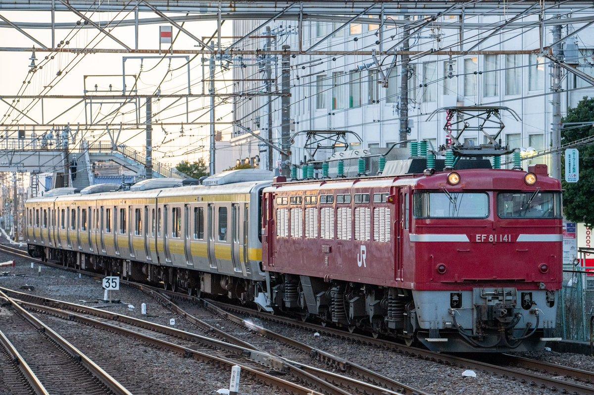 【4両の総武線E231】B31編成がAM入場配給