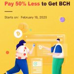 Image for the Tweet beginning: To celebrate $BCH halving, #CoinEx