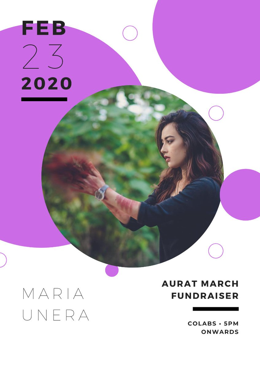 Maria will be performing at our #AuratMarch2020 fundraising gig. Maria is a musician with a storied connection to her craft. She puts a part of herself into all of her work, which comes across as raw and honest. #AuratMarchLahore