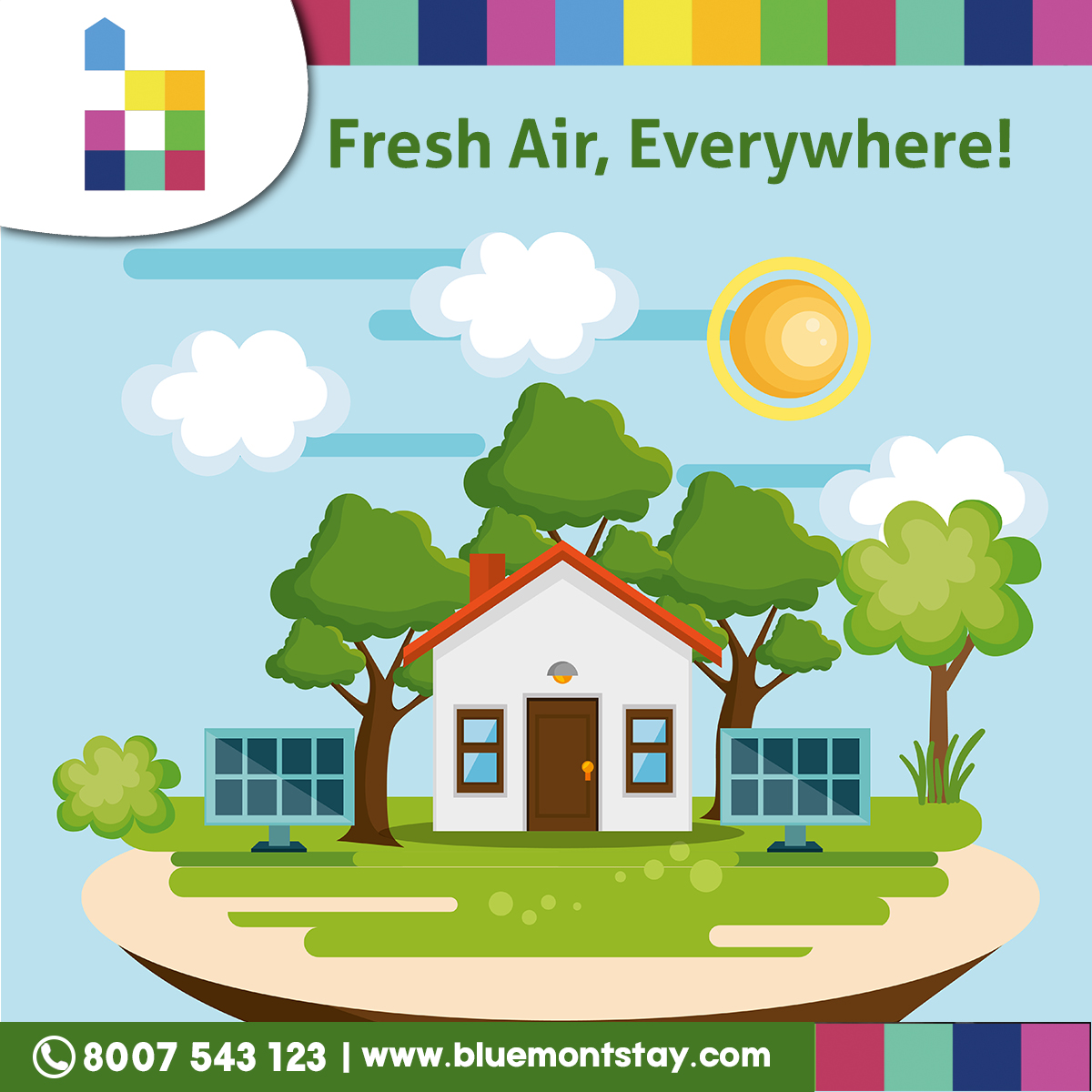 """A breath of fresh air is a great thing to take. Fresh air is everywhere at Bluemont Stay.  """"Visit Us: http://www.bluemontstay.com : +91 8007-543-123""""  #bluemontstay #luxuryapartment #betterliving #happystay #apartmentliving #propertyrental #staywithus #besthospitality #freshairpic.twitter.com/UtKgfTFS1t"""