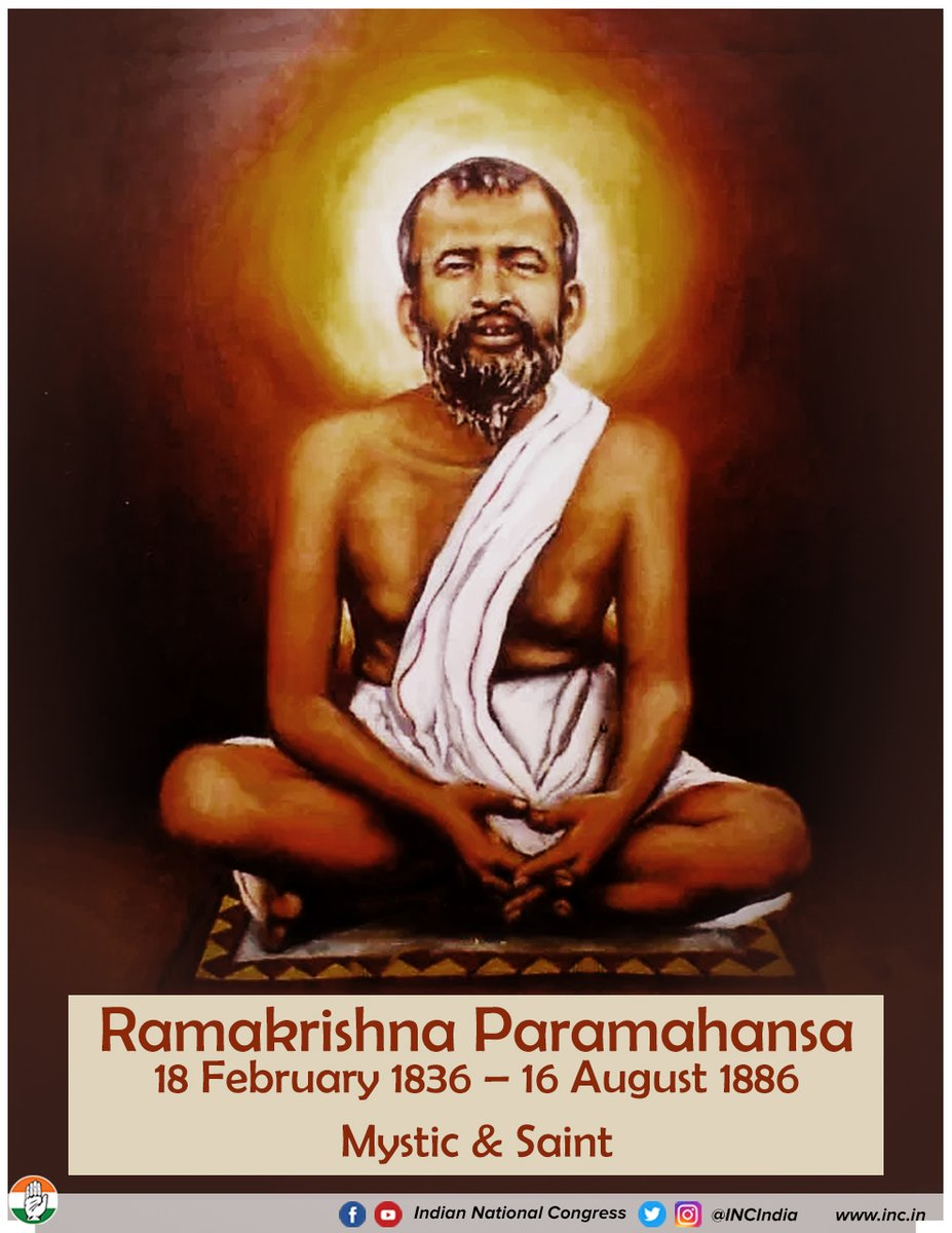 We pay our homage to Ramakrishna Paramhansa on his birth anniversary He was the guiding light of not only Swami Vivekananda, but to millions of people across the globe.