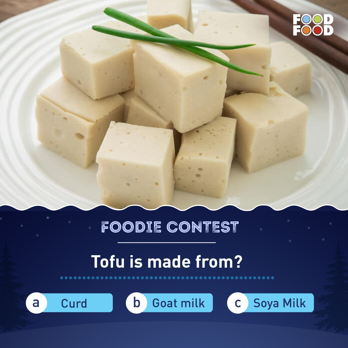 #ContestAlert: Participate and stand a chance to win exclusive prizes: ✔️ Answer the question & use hashtag #FoodFoodContest & #FoodieContest ✔️ Tag atleast 3 friends and share the contest post ✔️ Follow #FoodFood ✔️ Retweet our last video  #TuesdayTrivia #Contest #Giveaway