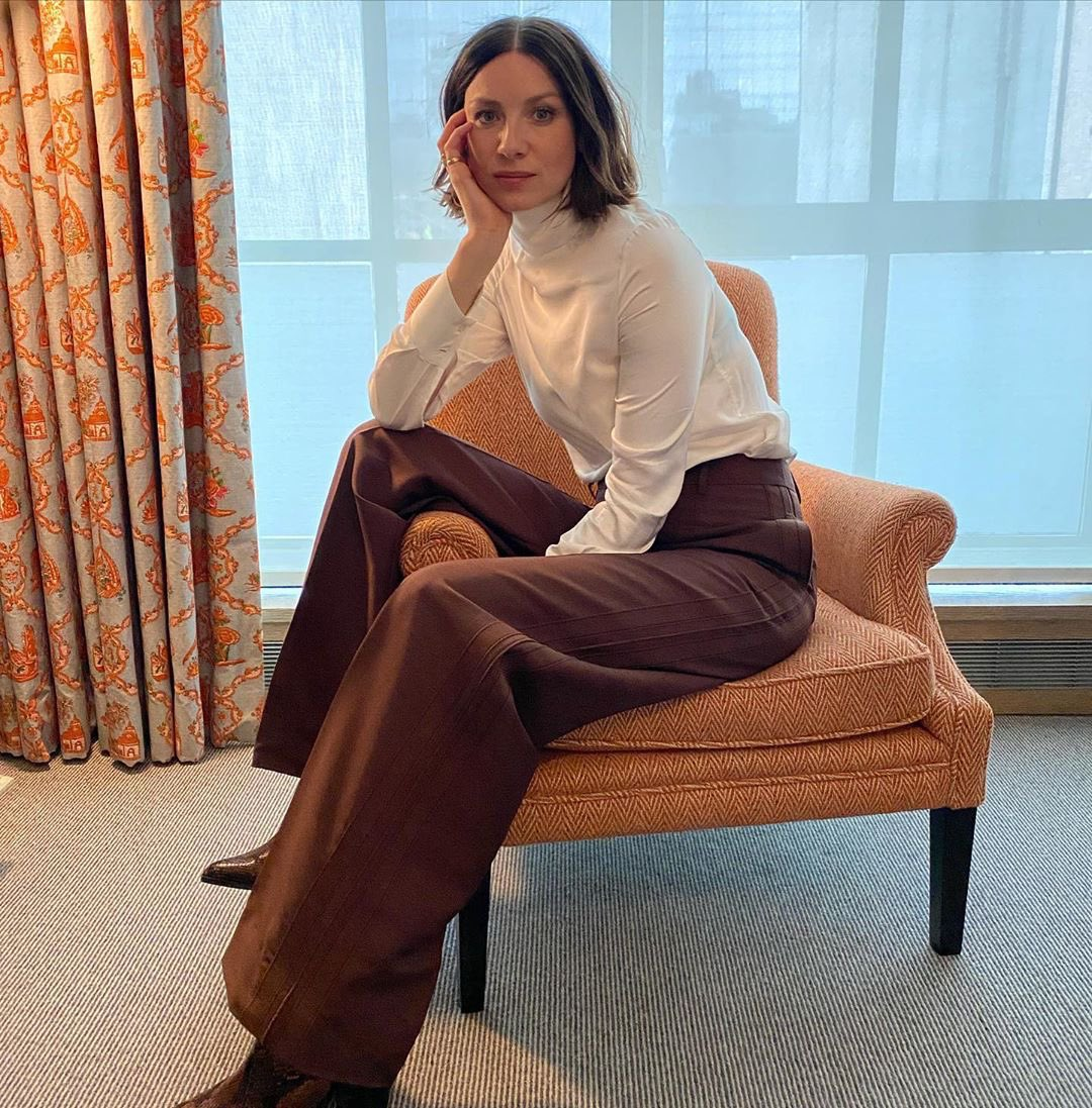 ♔ #INSTAGRAM ⋮ New photo of @caitrionambalfe from Outlander Season 5 press in NYC. 📷: Caitríona's Instagram