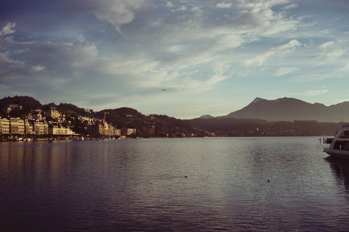 Lake Lucerne  Canon AE-1 Program |  CineStill 50D  #Lucerne #filmisnotdead #staybrokeshootfilm #cinestill #cinestill #cinestill50Dpic.twitter.com/udmTb7xycS