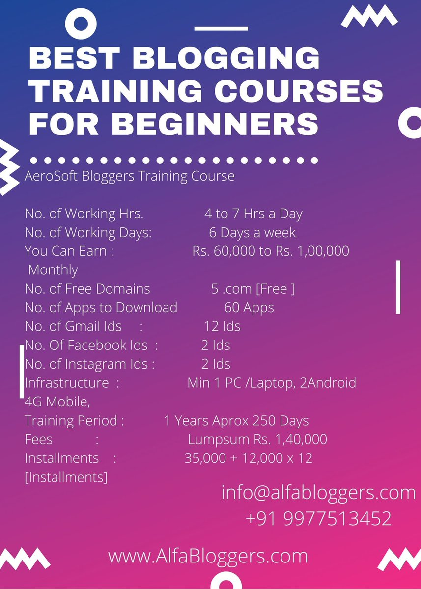 Best Blogging Training Courses for Beginners  For More Information Visit -  https://aerosoftin.blogspot.com/2018/12/best-blogging-training-courses-for.html …  #bloggerstyle #bloggers #blogs #bloggerlife  #blogging #youtubeblogger  #blog #blogg  #bloglife #bloggingtraining #bloggingcourse #bloggingtrainingcourse #Bestbloggingcoursepic.twitter.com/GVB6qMh21S
