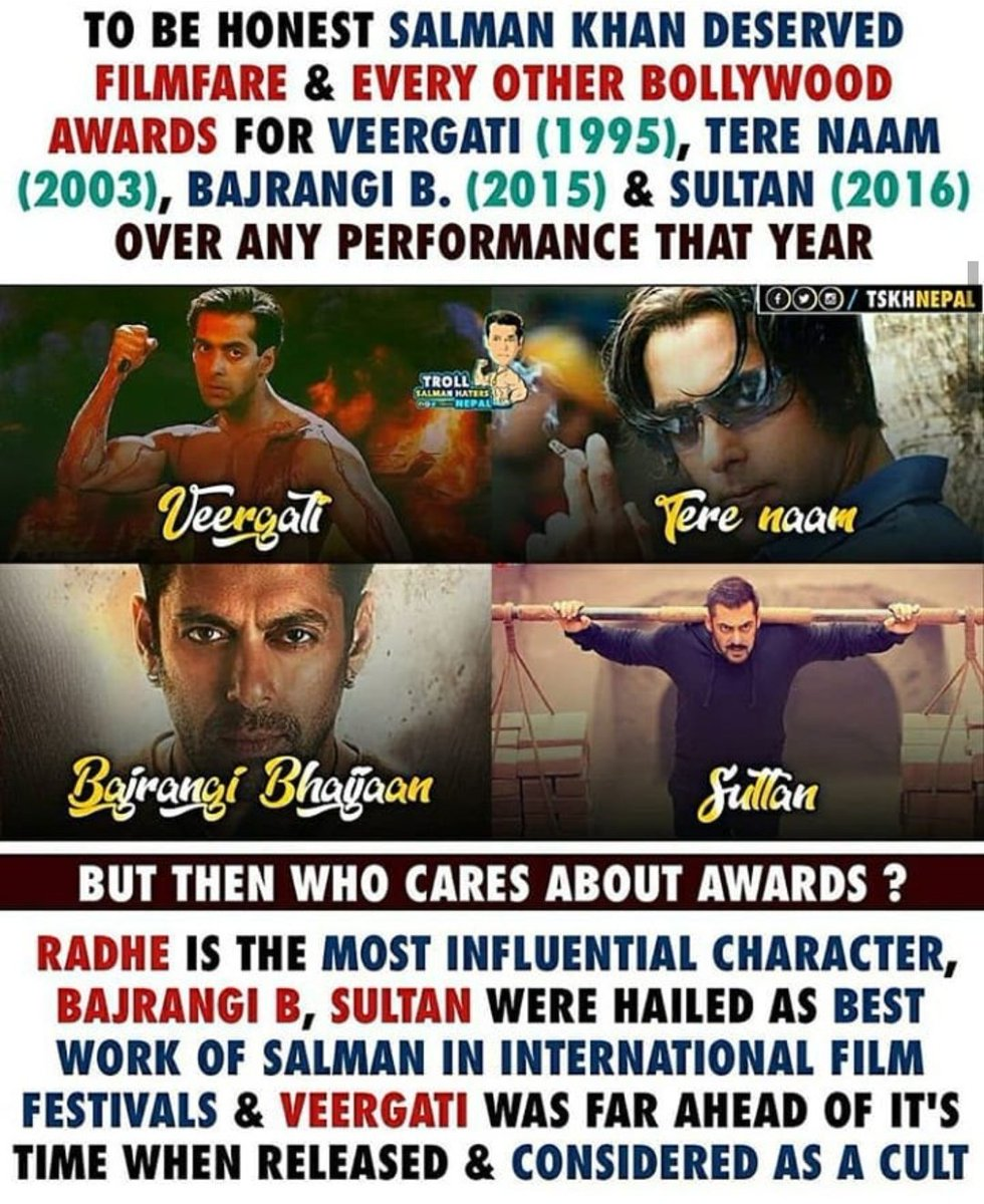 I'm sick of fans that keep ranting about FF award. Guys, put it this way. It's not Salman but FF don't deserved Salman Khan. He's too huge for cheap award like FF. <br>http://pic.twitter.com/1NtHTZcnuv