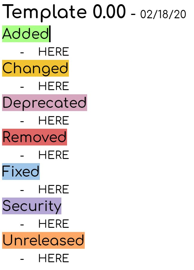 Dracius On Twitter For My Next Project I Decided To Throw Myself A Changelog Template
