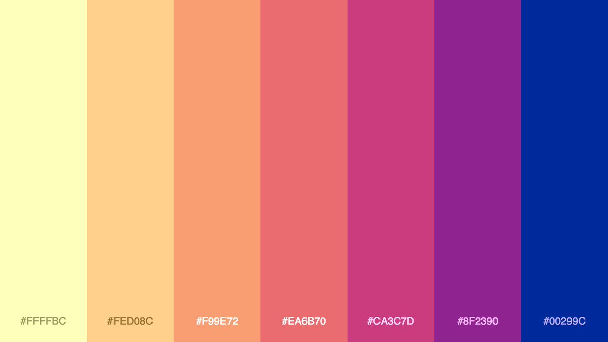 Replying to @palitra_color: Generated palette #colors #palette #gradient #palitra