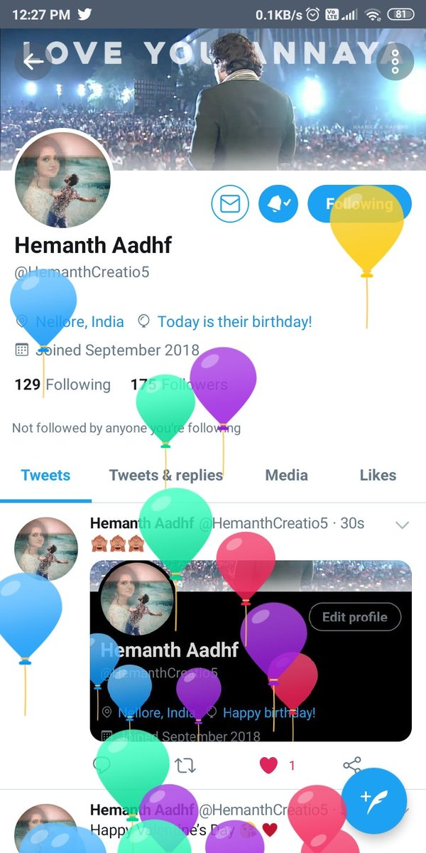 Wish you happy birthday to you  my dear brother #AADHF @HemanthCreatio5 may Ur all dreams come true ... stay blessed ..party hard ra thamudu pic.twitter.com/Jtr7A2mj7R
