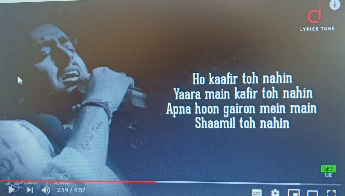 @ArijitSingh_ @PriyaSaraiya @SachinJigarLive   #DuaKaro song very well made BUT see at the lyrics which says I am not amongst the 'kafeer' all those who believes in God, Lords, Bhagwan,Buddha,Mahaveera except in those who worship #SAW are called Kafeers. Why such low lyrics?pic.twitter.com/I9PapiZdMo