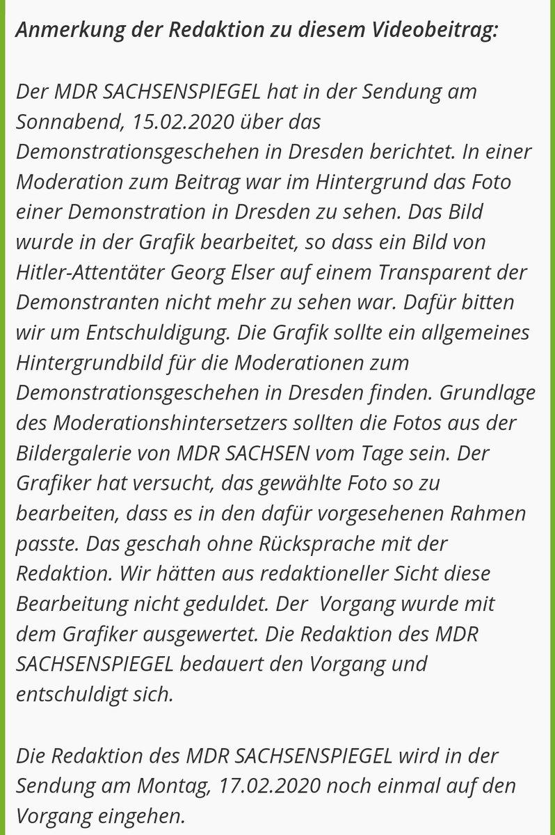 [THREAD]  Am Sonntag habe ich einen reichweitenstarken Tweet zur Retusche eines Bildes bei #dd1502 im @MDR_SN Sachsenspiegel abgesetzt.  Gestern wurde der Sachverhalt im Sachsenspiegel aufgegriffen (ab 5:23).  https://www.mdr.de/tv/programm/sendung872074_date-2020-02-17_ipgctx-true_zc-32c579bb.html…  Online gibt es nun einen Hinweis.  (1/6)pic.twitter.com/1cXFwrk3HX