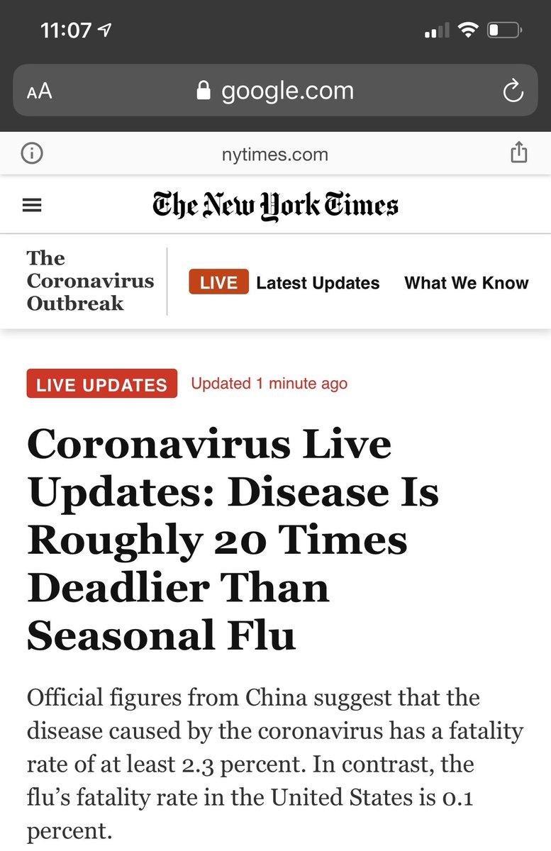 Just the flu? pic.twitter.com/EkMMqjOagS