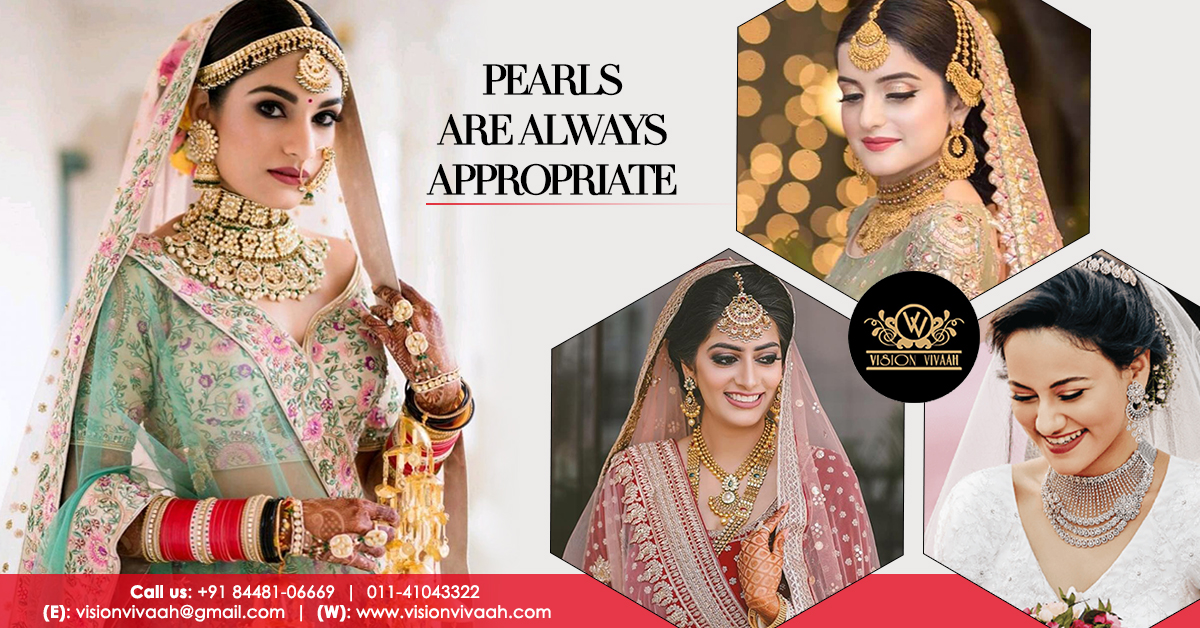 Get the most perfectly designed wedding jewelry designs and items for the Queen of the day. Because it's her day and her appearance must be mindblowing.    To book visit - https://bit.ly/36VsdOW  #VisionVivaah #WeddingServices #WeddingJewelry #BridalLook #BridalJewelry #Jewelrypic.twitter.com/dvLVA2j6EN