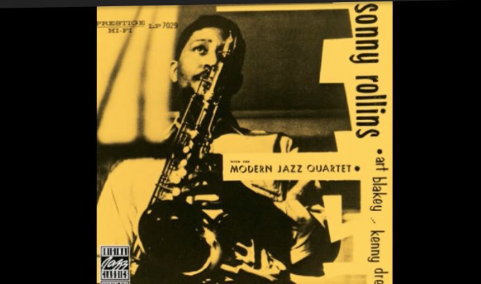"""Sonny Rollins With The Modern Jazz Quartet ー """"Almost Like Being In Love"""" (Instrumental)   Bass  Guitar: Percy Heath Saxophone: Sonny Rollins Vibraphone: Milt Jackson Drums: Kenny Clarke Piano: John Lewis  https://youtu.be/A_DKPo9vzfU @YouTubepic.twitter.com/kGdTEelP11"""