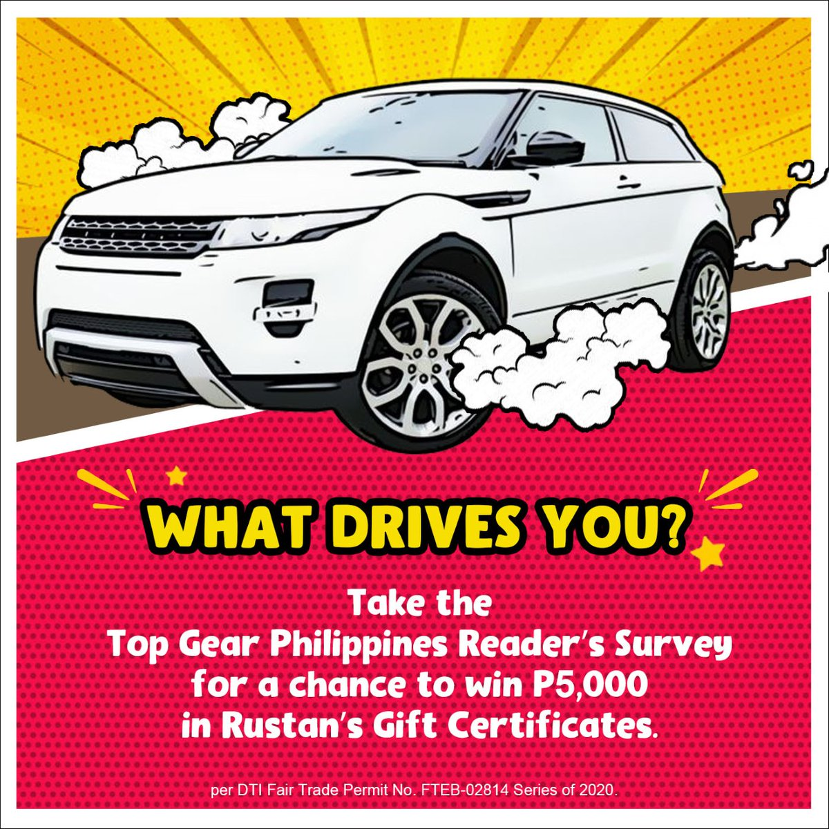 Do you want to win P5,000 worth of gift certificates? Answer our Reader Survey! Go to: http://bit.ly/324G18Z pic.twitter.com/jl3wx6jrN1