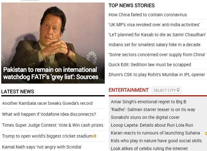 #TopStories on TOI at this hourFollow http://toi.in for all the latest news