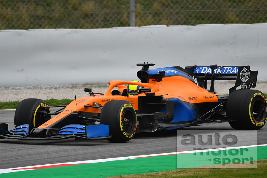 #F1: checked some of #McLarens shakedown photos of MCL35. Completely redesigned sidepods compared to launch photos. #AMuS