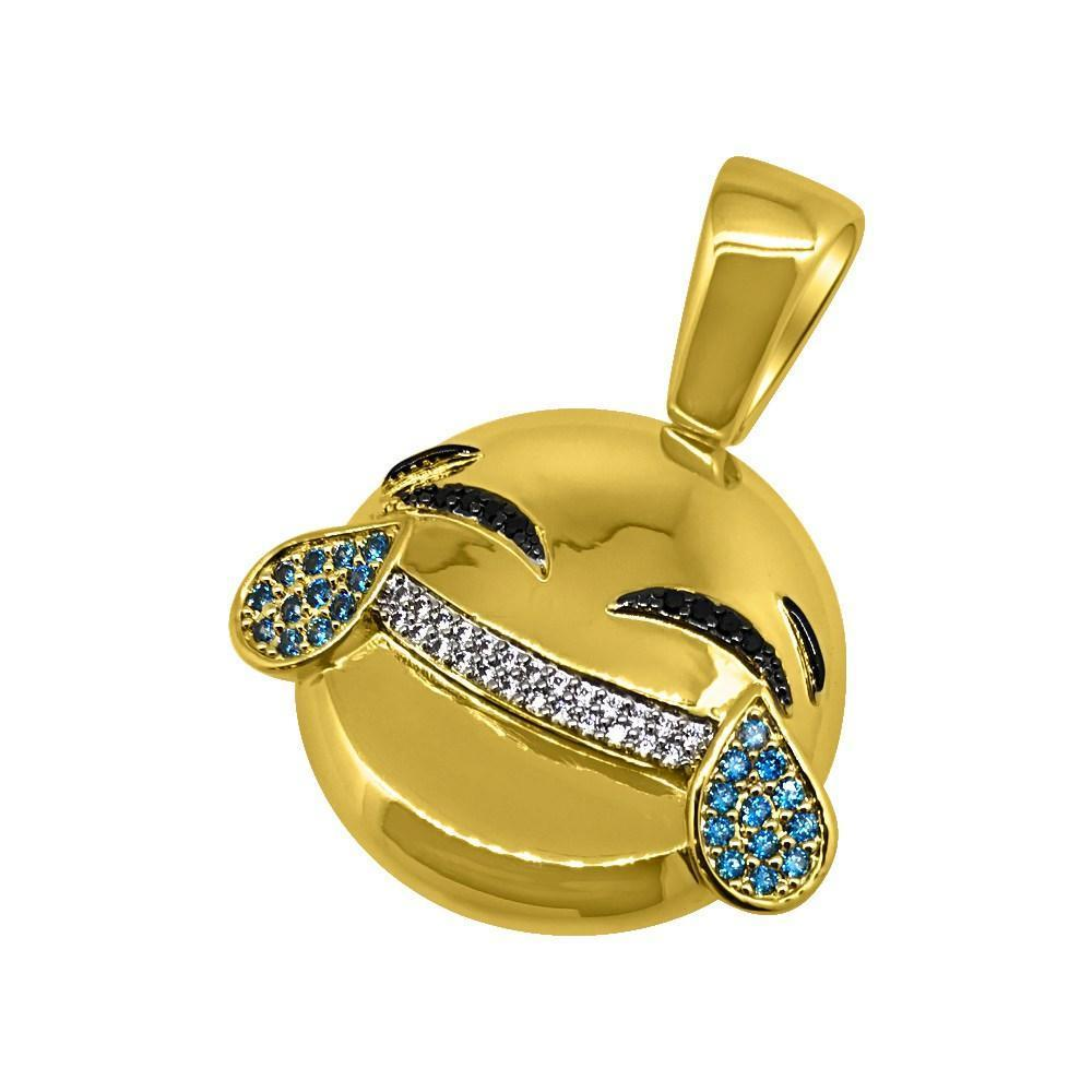 LOL Emoji CZ Bling Bling Gold Pendant! Bling Bling All Day- 25% OFF EVERYTHING - PROMO CODE Save25 #hiphop #rap #hiphop #hiphopbling #blingbling #swagger #jewelry #sale #blingsale #hiphopsale #style #swag #rapper #luxury #new