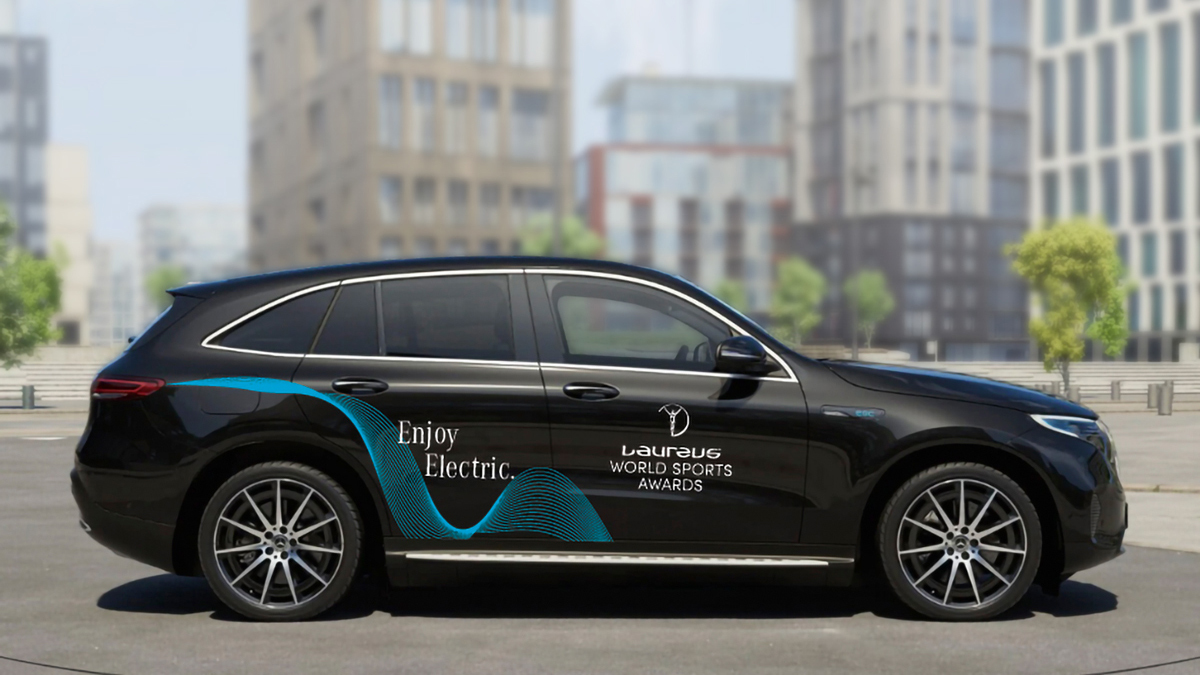 [Stromverbrauch kombiniert: 20,8-19,7 kWh/100 km   CO₂-Emissionen kombiniert: 0 g/km   http://mb4.me/DAT-Leitfaden-electric…   Mercedes-Benz EQC 400 4MATIC] With its Enjoy Electric fleet including the EQC, #MercedesBenz will provide sustainable mobility at #laureus20 http://mercedes-benz.com