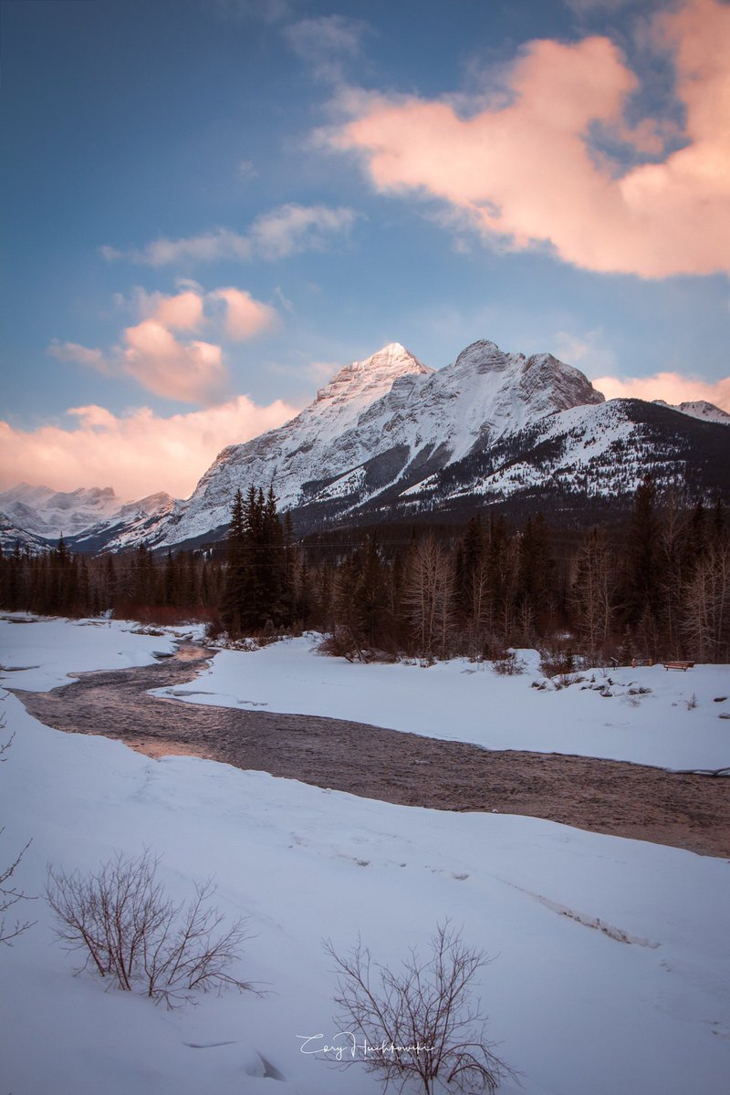 Is there any place more hypnotic then the Canadian Rockies at sunrise! #kananaskis #alberta #travelphotos #explorealberta #therockies #travel #travelphotography #explore #winter #canadiancreatives #Canada #Canadiandestinations #mountains #CanonCanada #canadianphotographer