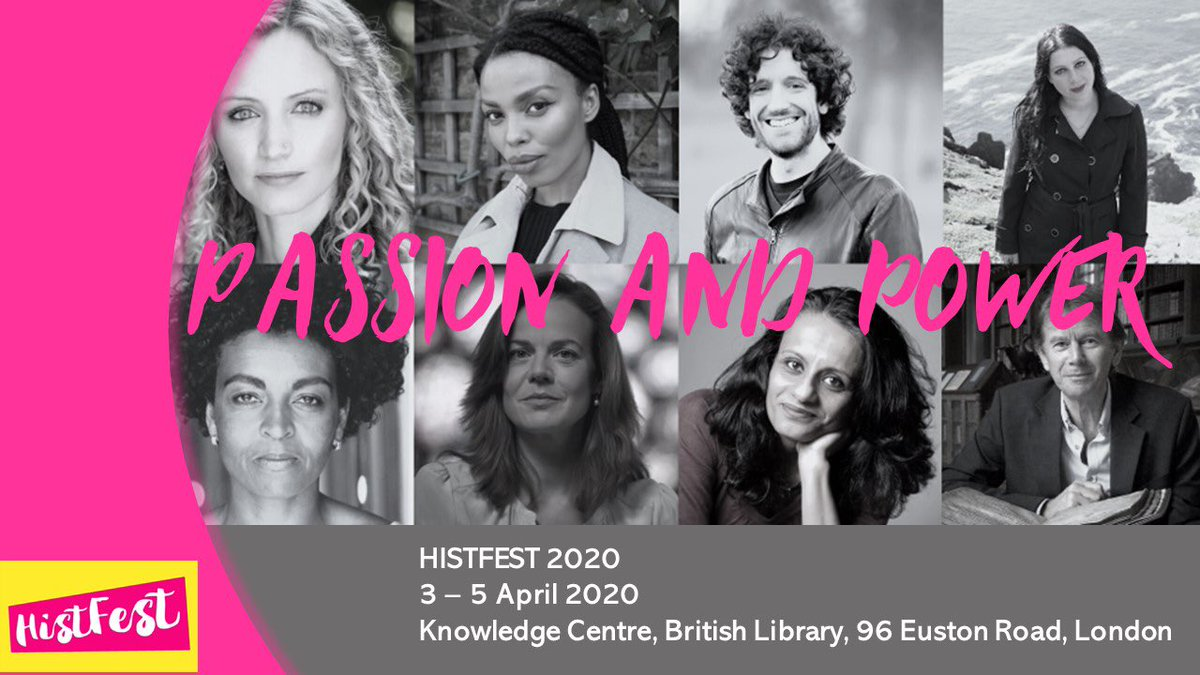 Absolutely delighted to announce that tickets to #HistFest2020 at the @britishlibrary are now ON SALE!!!   This year's theme is Passion and Power and boy do we have a line up. Info:  http:// histfest.org/about/    <br>http://pic.twitter.com/iWsEA3Q7iv