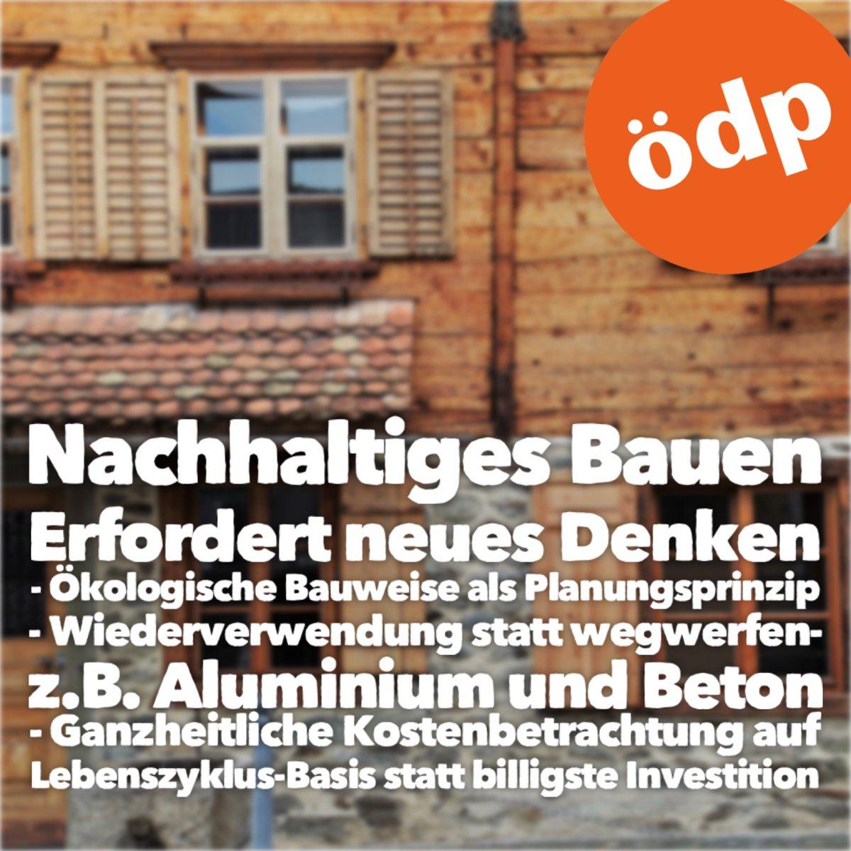 #kommunalwahl2020 #ÖDP #bauen #wirbaueneinhaus #nachhaltigkeit #ökologisch #fairpic.twitter.com/r514YZ5DKt