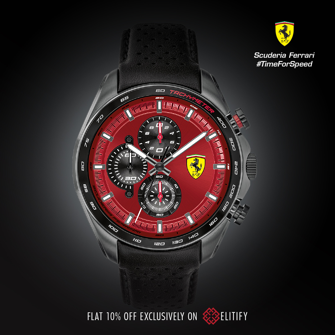 Carry the dynamism and allure of race tracks with you, every second. Shop now at http://bit.ly/SFElitify   #ferrariwatches #scuderiaferrari #luxurywatches pic.twitter.com/sUKSNFoNff
