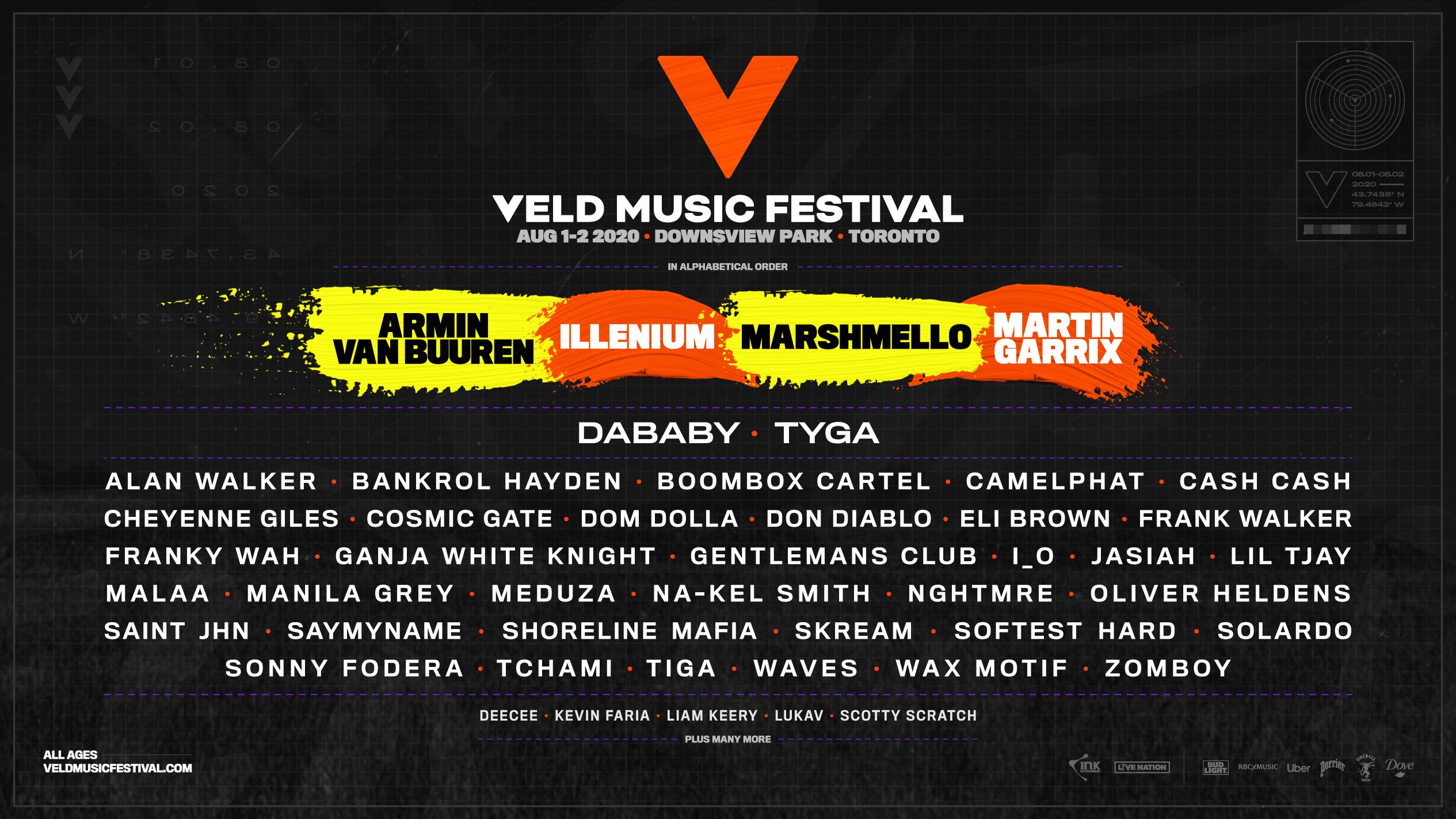 2020 Veld Music Festival lineup